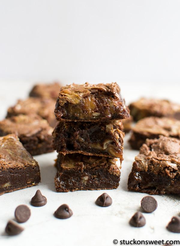 Caramel Fudge Brownies
