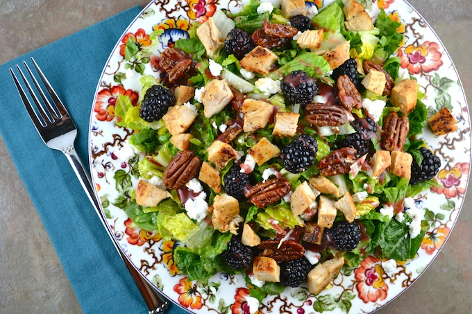 Blackberry Salad with Chicken