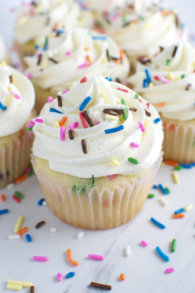 Homemade Funfetti Cupcakes | www.stuckonsweet.com6