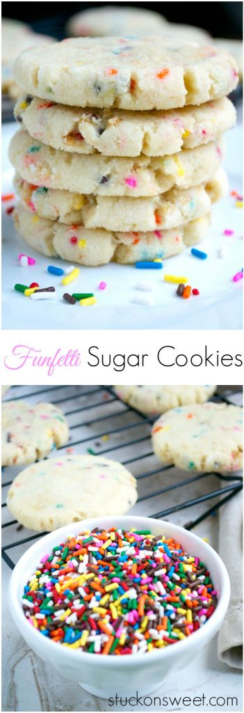 Funfetti Sugar Cookies | stuckonsweet.com