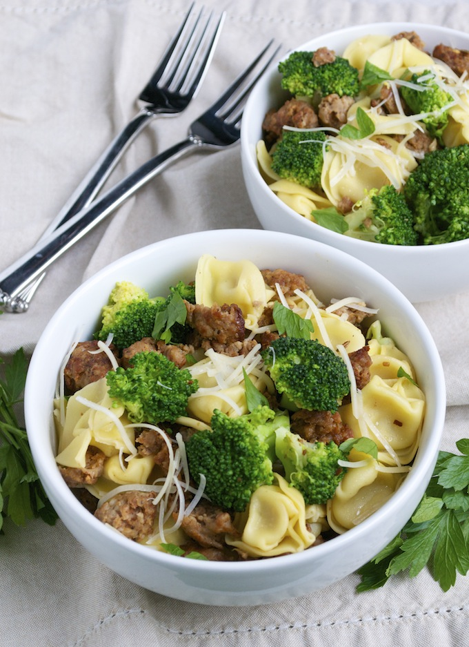 tortellini with sausage and broccoli