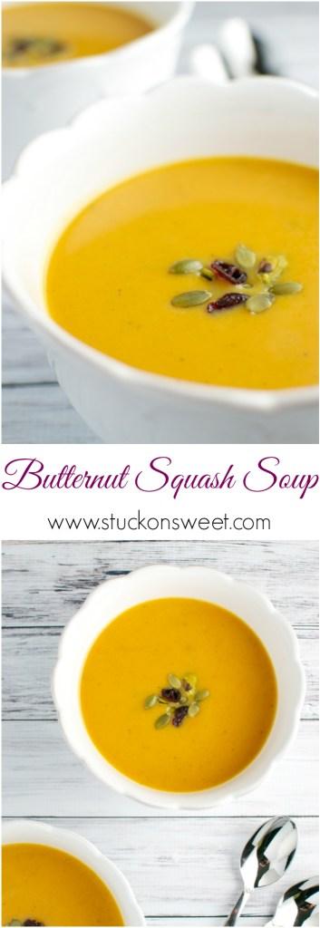 Butternut Squash Soup   www.stuckonsweet.com