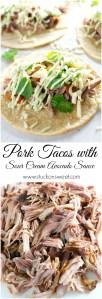 Pork Tacos with Sour Cream Avocado Sauce   www.stuckonsweet.com