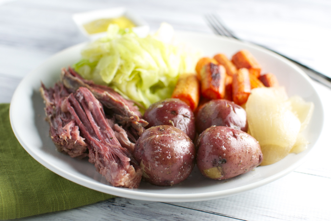 Corned Beef and Cabbage | stuckonsweet.com
