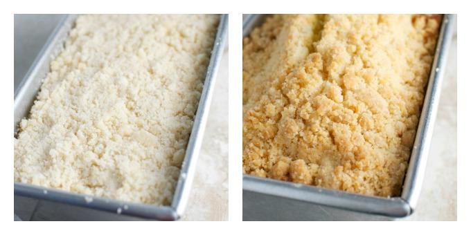 Peack Cake with Crumb Topping | stuckonsweet.com