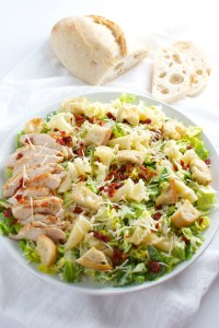 Parmesan Peppercorn Chicken Salad with Sun Dried Tomatoes and Pasta