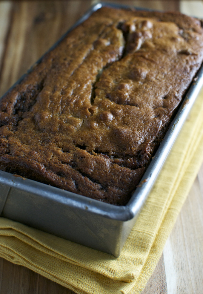 Cinnamon Swirl Banana Bread | stuckonsweet.com