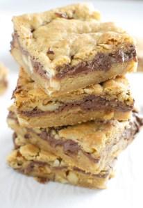 Nutella Walnut Cookie Bars