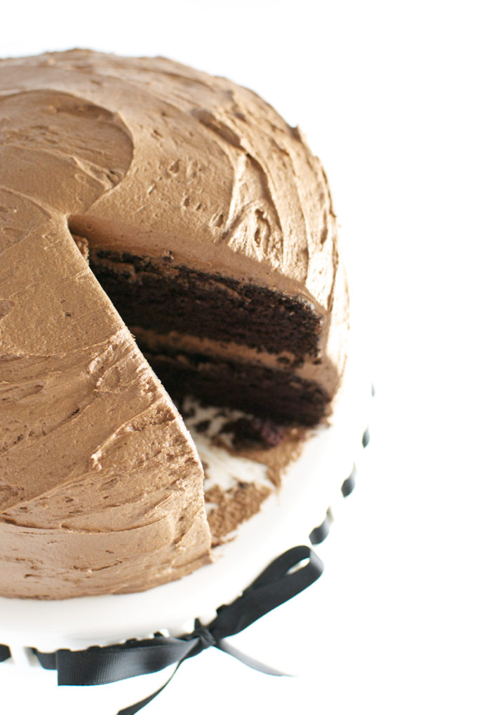 Chocolate Cake with Chocolate Buttercream Frosting 1