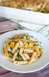Butternut Squash and Kale Pasta Bake – stuckonsweet.com – Jessica Loizzo