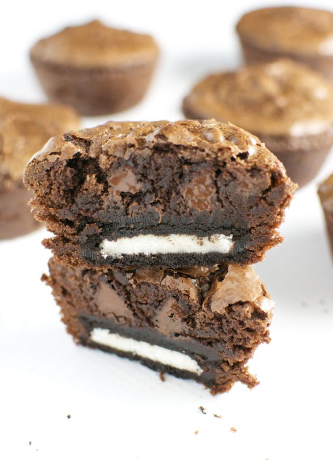 Oreo Brownie Cupcakes Stuck On Sweet