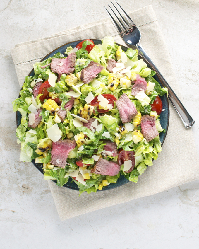 Steak and Corn Caeser Salad 1