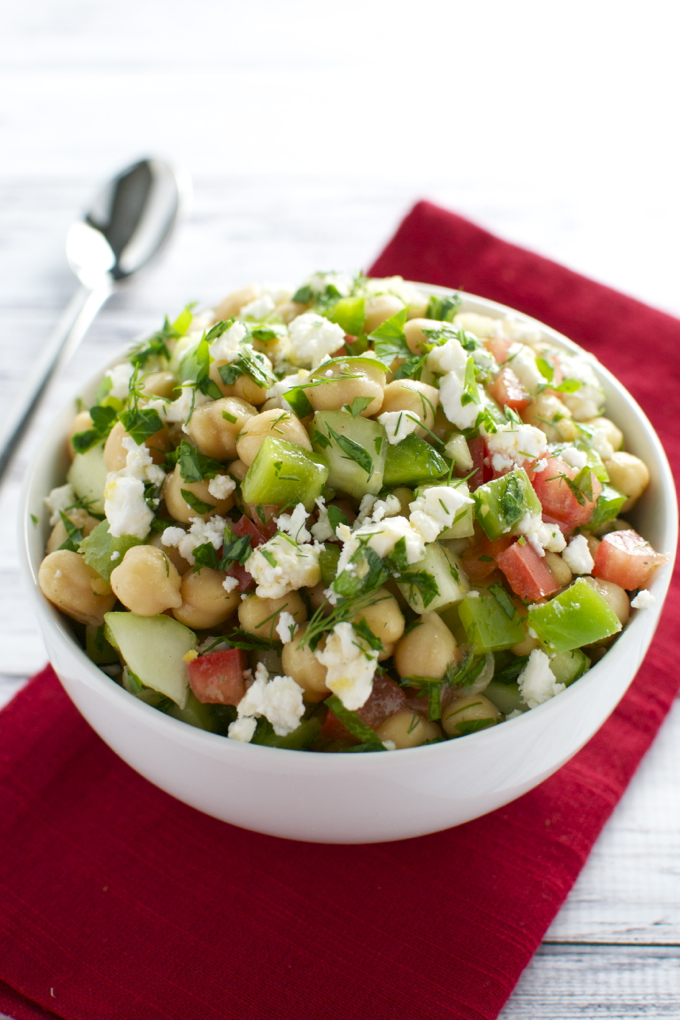 Chickpea Salad | www.stuckonsweet.com