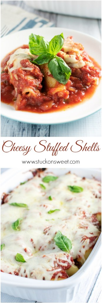 Cheesy Italian Stuffed Shells | www.stuckonsweet.com