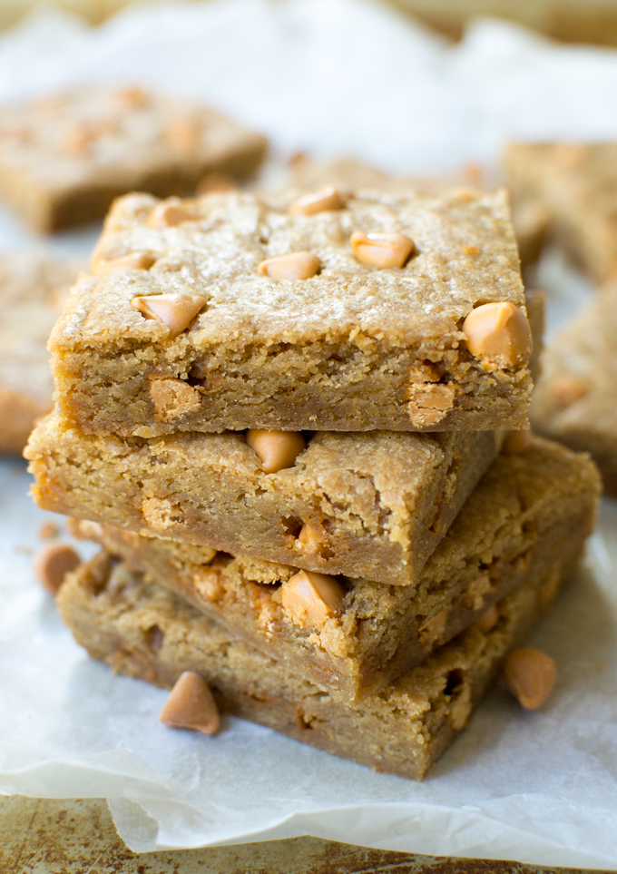Butterscotch Blondies | stuckonsweet.com
