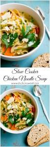 Slow Cooker Chicken Noodle Soup   www.stuckonsweet.com