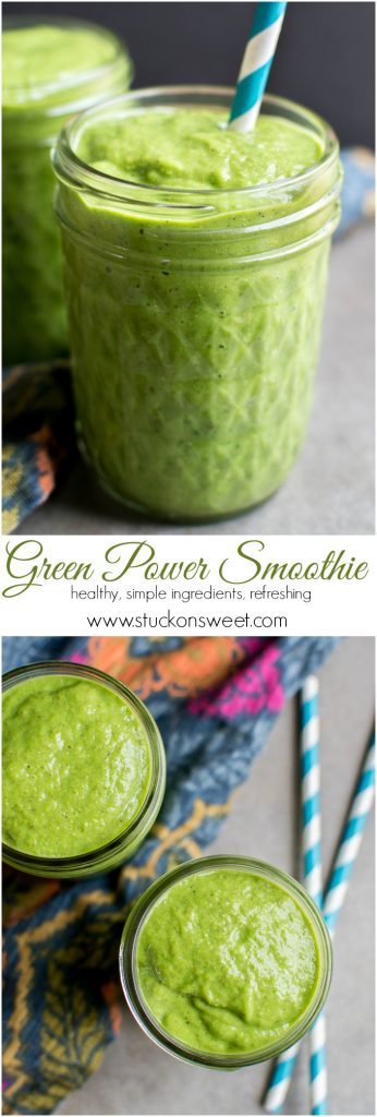 Green Power Smoothie | www.stuckonsweet.com