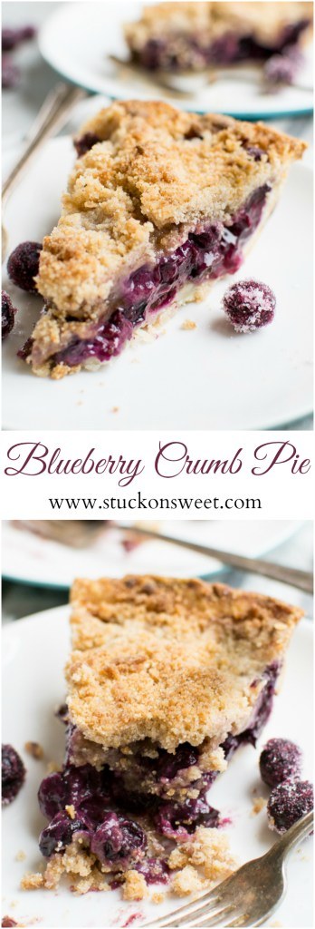 Blueberry Crumby Pie | www.stuckonsweet.com