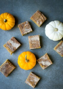 Pumpkin Snickerdoodle Bars