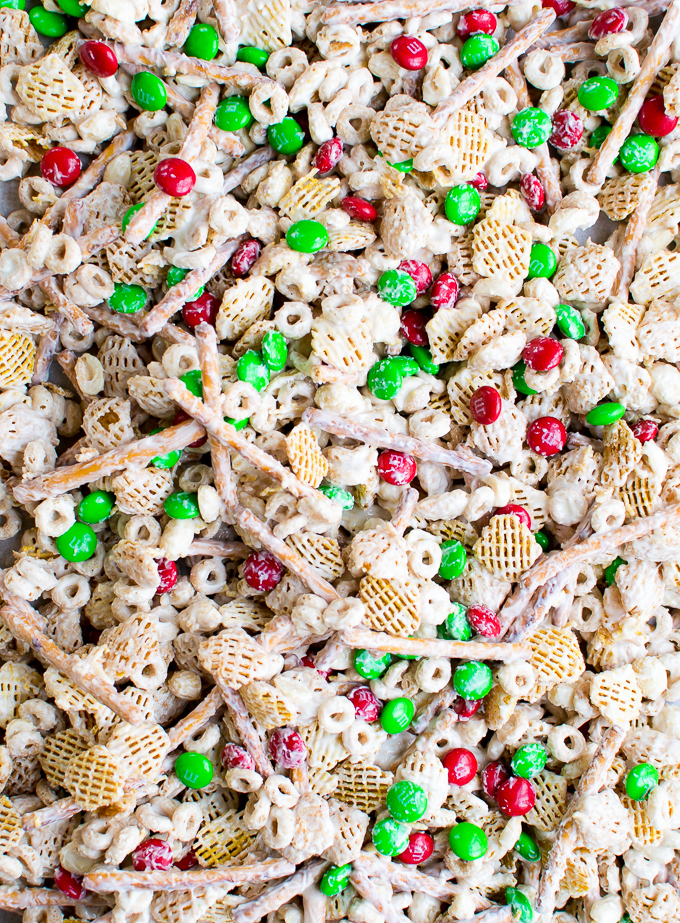 Chex Mix Christmas.Christmas Crack Aka White Chocolate Chex Mix Stuck On Sweet