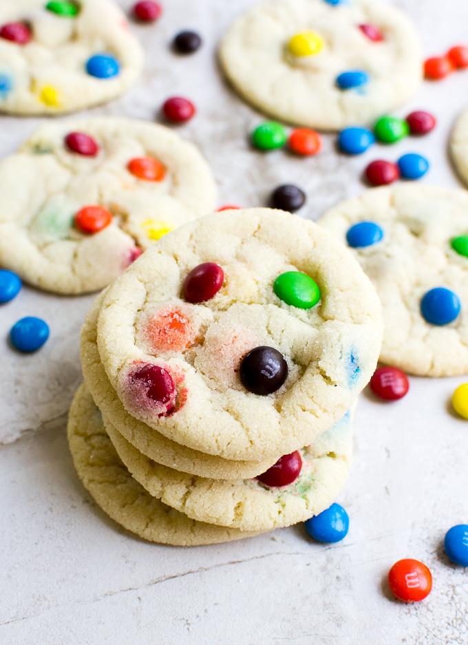 m&m sugar cookies