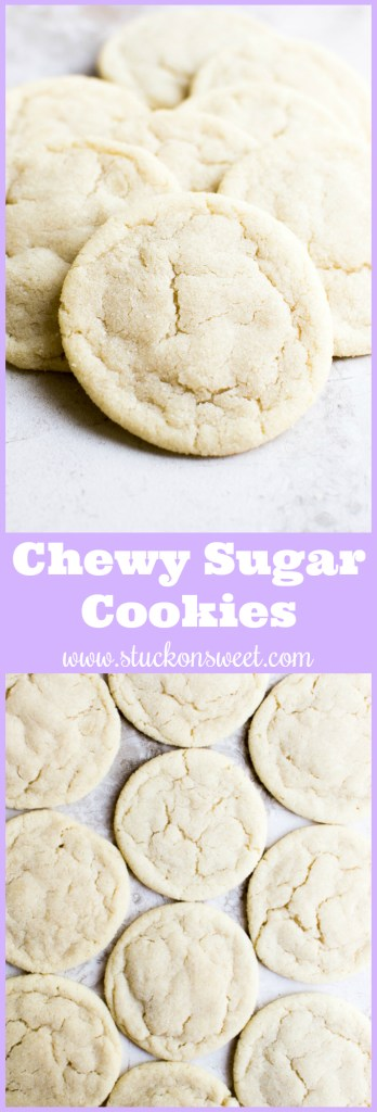 A simple chewy sugar cookie recipe that results in the BEST sugar cookies ever!