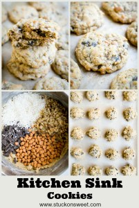 The best cookies out there. Kitchen sink cookies are delicious! #stuckonsweet #cookies #recipe
