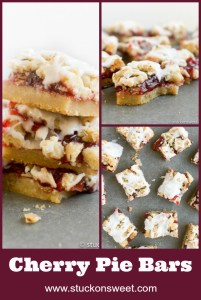 Cherry Pie Bars are such a wonderful and easy dessert. #stuckonsweet #cherrypie #dessertrecipe