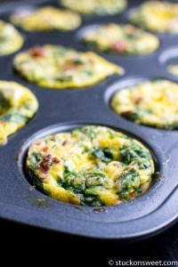 Spinach, Tomato and Feta Egg Muffin Cups