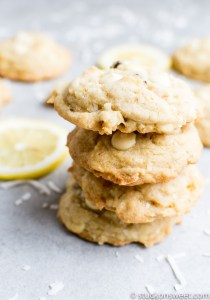 Florida Lemon Cookies {Coconut, Walnuts and White Chocolate Chips}