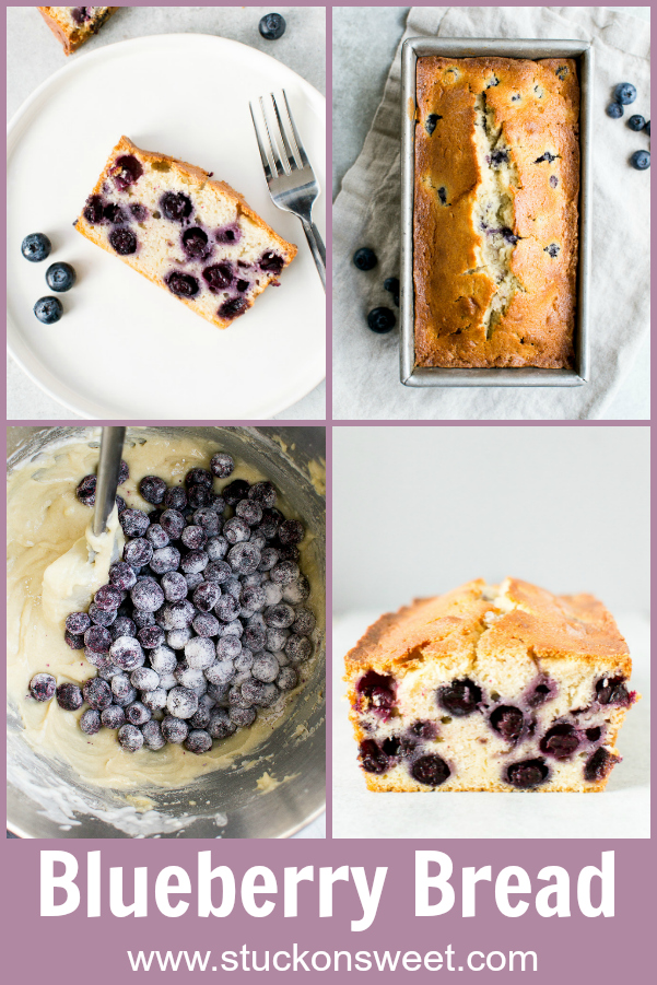 Blueberry Bread is such a delicious dessert snack and I love the colors for Spring! #stuckonsweet #dessert #spring