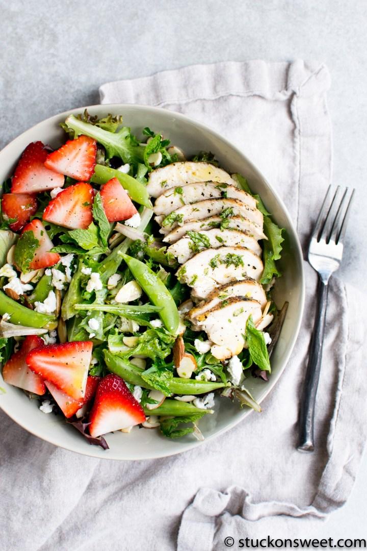 Strawberry Mint Chicken Salad