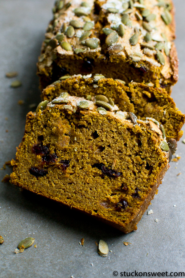 Healthy Pumpkin Flaxseed Bread