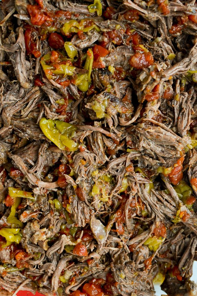 shredded Italian beef