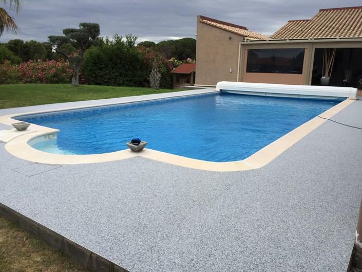 Tour de piscine couleur Bleu turquin