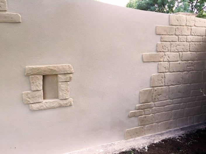 rénovation mur enduit effet pierre