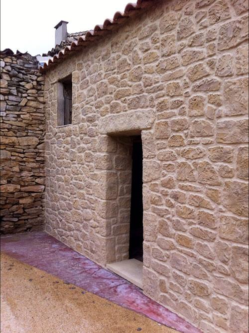 ravalement de façade enduit imitation pierre