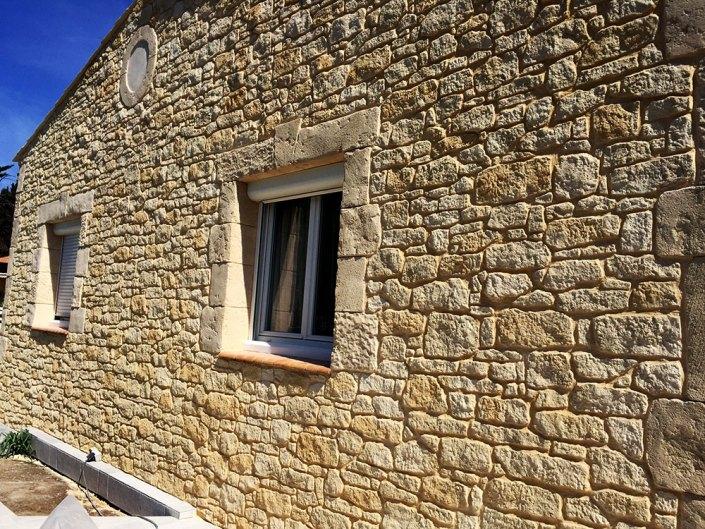enduit de parement décoratif effet pierre