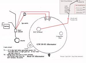 Alternator wire thickness