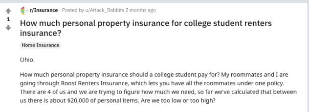 Roost Renters Insurance Reddit