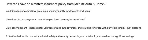 MetLife Renters Insurance