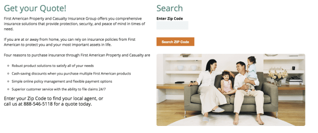First American Renters Insurance Quotes