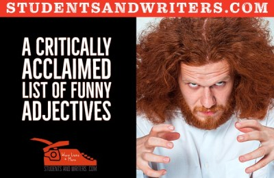 A critically acclaimed list of funny adjectives