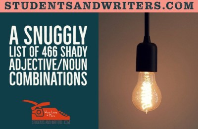 A snuggly list of 466 shady adjective/noun combinations