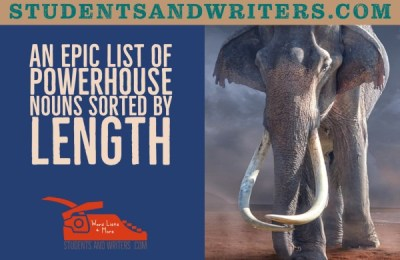 An epic list of powerhouse nouns sorted by length
