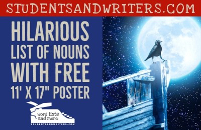 Hilarious list of Nouns with Free 11′ X 17″ Poster