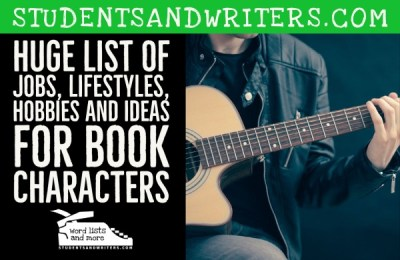 Read more about the article Huge List of Jobs, Lifestyles, Hobbies and Ideas For Book Characters