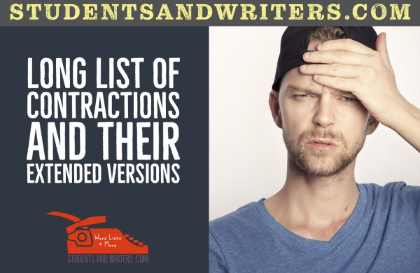 You are currently viewing Long list of contractions and their extended versions