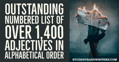 Read more about the article Outstanding numbered list of over 1,400 adjectives in alphabetical order