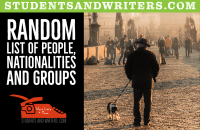 Read more about the article Random list of people, nationalities and groups
